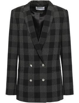 Verlaine Double Breasted Checked Crepe Blazer by Claudie Pierlot