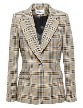 Valerie Checked Woven Blazer by Claudie Pierlot