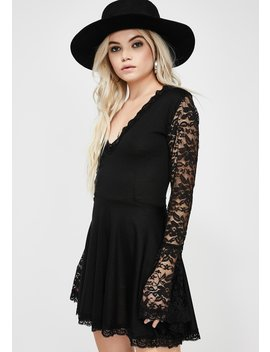 Lace Bell Sleeve Dress by Vera's Eyecandy