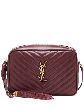 Lou Camera Leather Crossbody Bag In Red by Saint Laurent