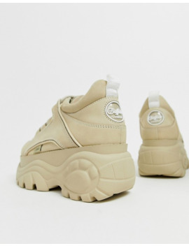 Buffalo London   Sneakers Basse Con Plateau Classiche Crema by Buffalo