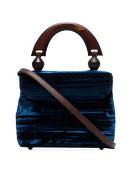 Mini Fiona Velvet Tote Bag by By Far