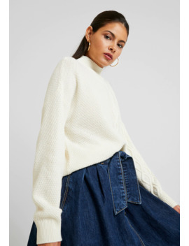 Turtle Neck Sweater With Cable Detail   Strikpullover /Striktrøjer by Benetton