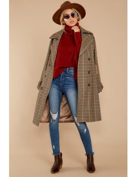 Notting Hill Brown Plaid Coat by Beulah