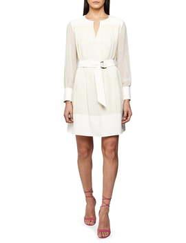 Finn Long Sleeve Belted Dress by Reiss