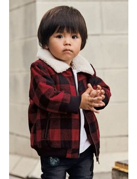 Red Check Bomber Jacket (3mths 7yrs) by Next