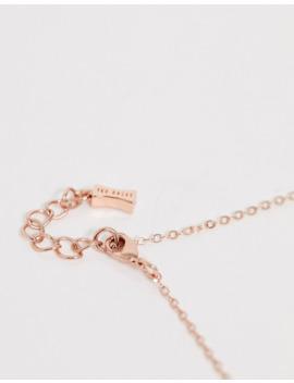Ted Baker Hannela Rose Gold Pendant Necklace With Red Swarovski Crystal by Ted Baker