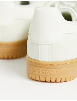 Adidas Originals Powerphase Sneakers In Off White Leather With Gum Sole by Adidas Originals