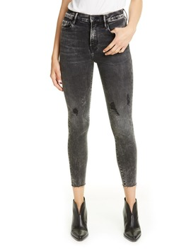 Ali High Waist Crop Cigarette Skinny Jeans by Frame