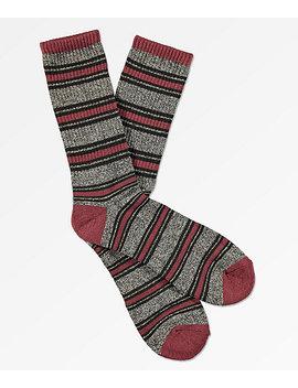 Zine Hold Chocolate Truffle Crew Socks by Zine
