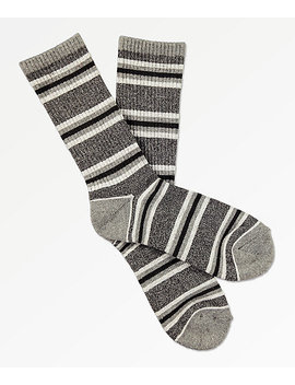 Zine Motion Heather Grey Crew Socks by Zine
