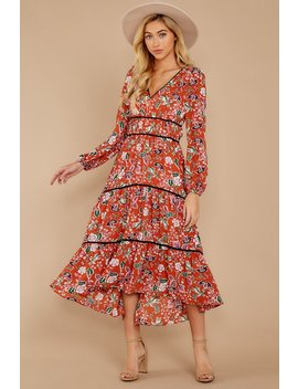 Falling In Love Clay Floral Print Dress by Fanco