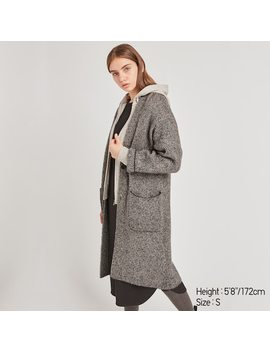 Women Tweed Knitted Coat (9) by Uniqlo
