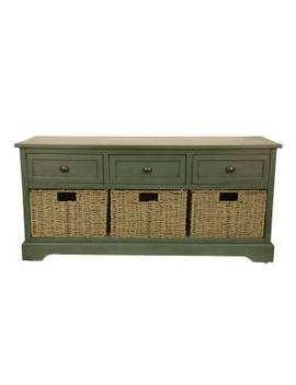 Montgomery Antique Teal Storage Bench by Decor Therapy