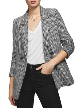 Herringbone Blazer by Anine Bing
