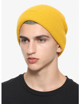 Mustard Yellow Watchman Beanie by Hot Topic