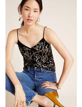 Rina Embroidered Velvet Cami by Seen Worn Kept