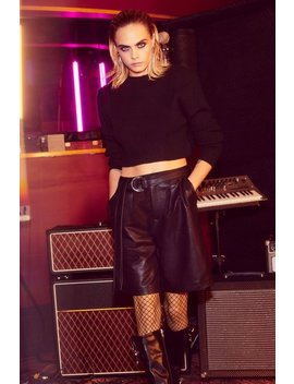 cara-delevingne-doom-or-destiny-faux-leather-shorts by nasty-gal