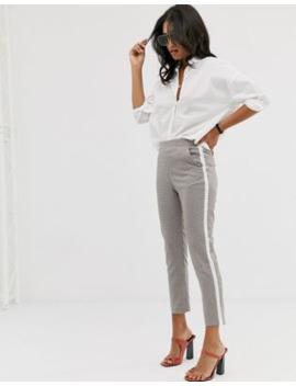 Pantalones Tapered A Rayas Con Cuadros En El Lateral De Asos Design by Asos Design