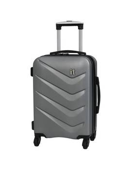 It Luggage Expandable 4 Wheel Hard Cabin Suitcase   Silver882/8813 by Argos