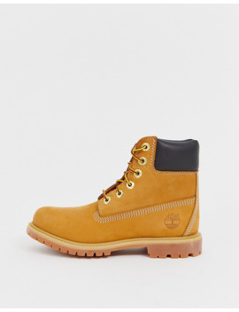 Timberland 6 Premium Wheat Leather Ankle Boots by Timberland's