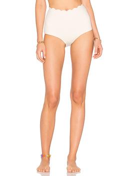 Palm Springs High Waist Bikini Bottom In Coconut by Marysia Swim