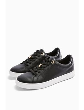 Cabo Black Lace Up Trainers by Topshop