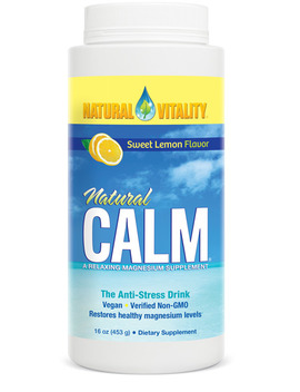 Natural Vitality® Calm, The Anti Stress Dietary Supplement Powder, Lemon   16 Oz by Natural Vitality