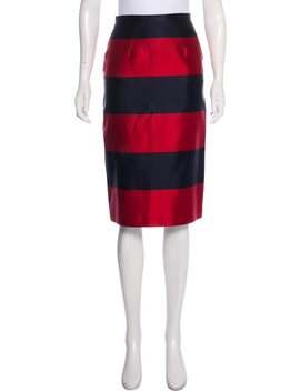 Silk Striped Skirt by Burberry Prorsum