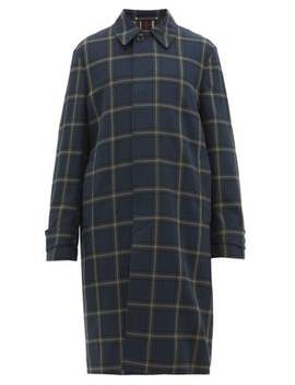 Lydon Check Cotton Twill Coat by Paul Smith