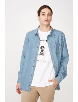 Long Sleeve Denim Shirt by Cotton On