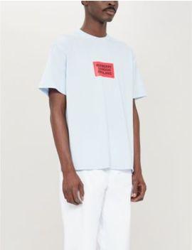Box Logo Print Cotton Jersey T Shirt by Burberry