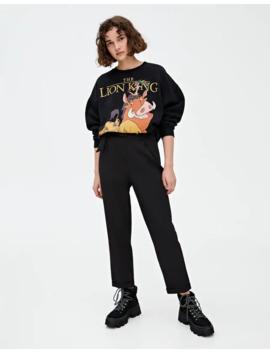 Timon & Pumbaa Sweatshirt In Black by Pull & Bear