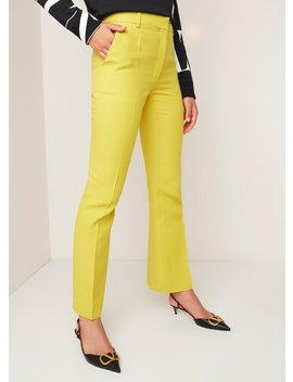 High Rise Flared Fit Pantalon In Zijdeblend by Valentino