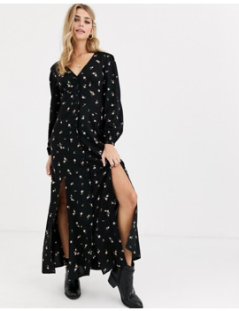 Miss Selfridge Maxi Dress With Button Through In Floral Print by Miss Selfridge