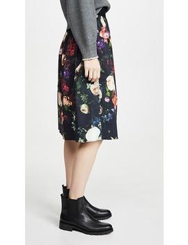Midi Skirt With Sunburst Pleats by Adam Lippes