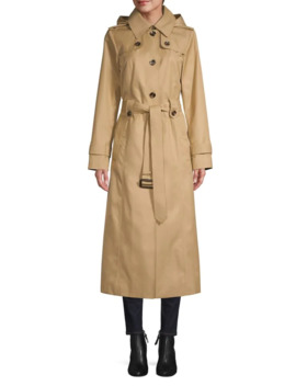 Military Cotton Blend Trench Coat by London Fog