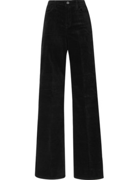 Valentina Cotton Blend Velvet Flared Pants by J Brand