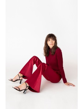 Valentina High Rise Flare In Opium Satin by J Brand
