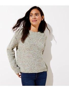 Chenille Pointelle Sweater by Loft