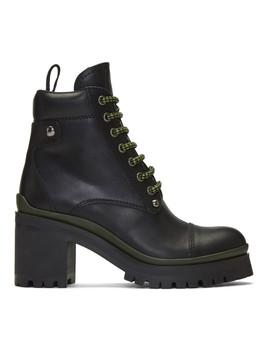Black Heeled Ankle Boots by Miu Miu