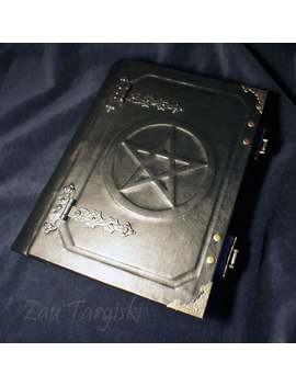 Big Book Of Shadows With A Pentagram, Book With Any Symbol by Etsy