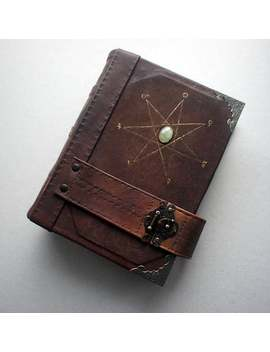 Grimoire With Seven Pointed Star by Etsy