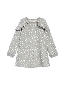 Glitter Confetti Dot Ruffle Sweatshirt Dress by Tucker + Tate