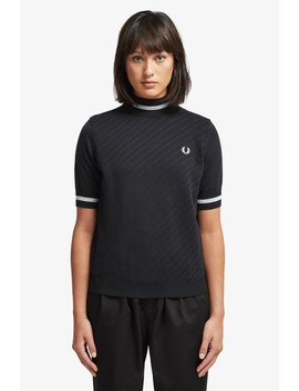 Textured Turtle Neck Jumper by Fred Perry