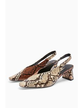 Jagger Snake Slingback Shoes by Topshop
