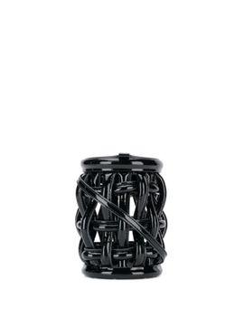 Woven Patent Bucket Bag by Danse Lente