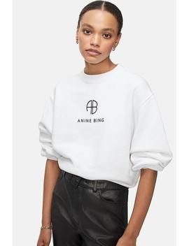 Ramona Sweatshirt Monogram   White by Anine Bing