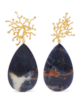 + Pach Tach Gold Plated Sodalite Earrings by Pacharee