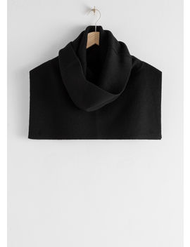 Ribbed Turtleneck Wool Blend Snood by & Other Stories